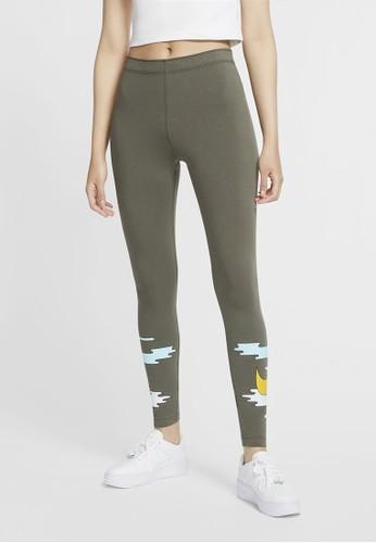 Nike green Women's Sportswear Leggings 55E00AABFA1E64GS_1