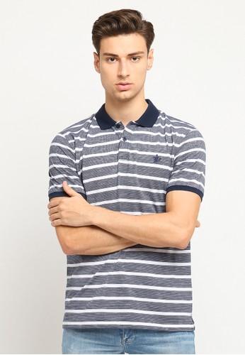 Osella navy Osella Baju Pria Polo Shirt Lengan Pendek Stripe Navy Blue 61CA0AA6669866GS_1