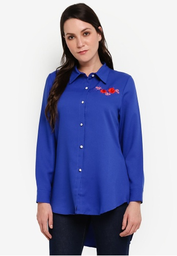 BYN blue Embroidery Shirt 56EE0AA3AFC172GS_1