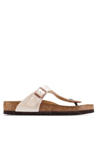 Birkenstock white Gizeh Graceful Sandals BI090SH25COSMY_1
