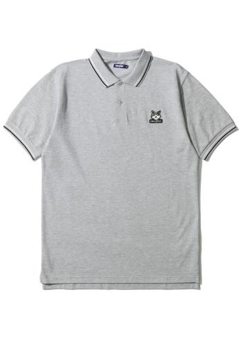 BLOCKAIT grey Akita Ken polo shirt F4775AA284891FGS_1