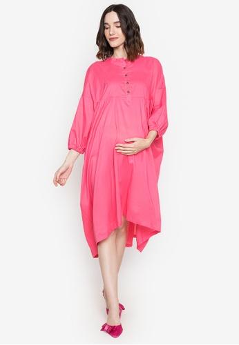 Amelia pink Maternity Isla Dress 7519EAA7C78EEBGS_1