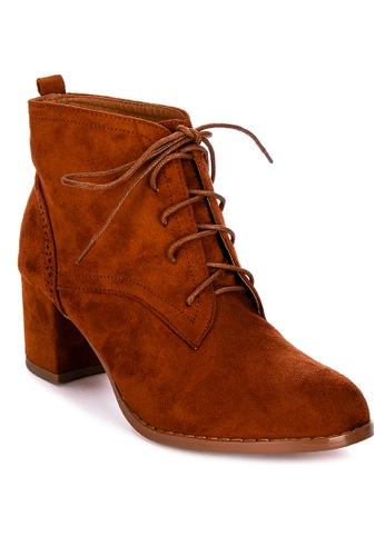 Huxley brown Honovi Heeled Boots AA919SH199B403GS_1