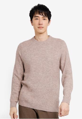 GLOBAL WORK beige Knit Sweater EEDE4AAF64DB0FGS_1
