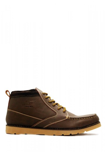D-Island brown D-Island Shoes Boots High Quality Leather Dark Brown DI594SH34SEZID_1