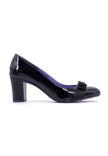 Flatss & Heelss by Rad Russel black Round Toe Block Heels- Black FL655SH0GHBWSG_1