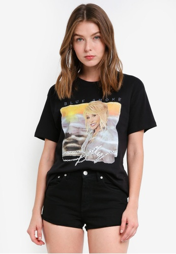 TOPSHOP black Dolly Parton T-Shirt By And Finally CCECDAA524FDE8GS_1