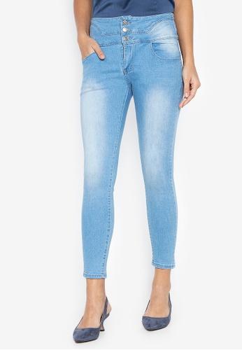 Balaynor blue High Waist Skinny Jeans 316DEAA66065B3GS_1