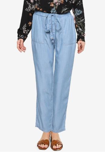 LC Waikiki grey Elastic Waist Straight Leg Trousers 9740EAA7EFCEEAGS_1