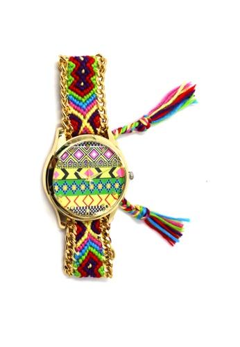 World of Watches multi Ethnic Pattern-F Crochet Strap Watch 006 WO566AC16UELPH_1