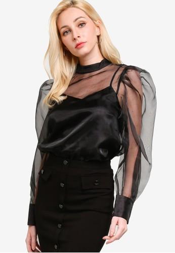 GUESS black Long Sleeves Hortensia Top 20A3EAAE1BB505GS_1