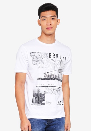 Burton Menswear London white White Brooklyn 1992 T-Shirt FCCEAAAFB502F2GS_1