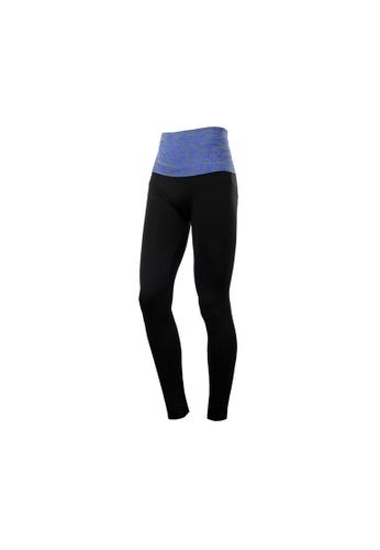 9cf9688f3a VIVIESTA SPORT blue Leopard Print High Rise Fit Sports Pants Tights  52672AAF099650GS_1