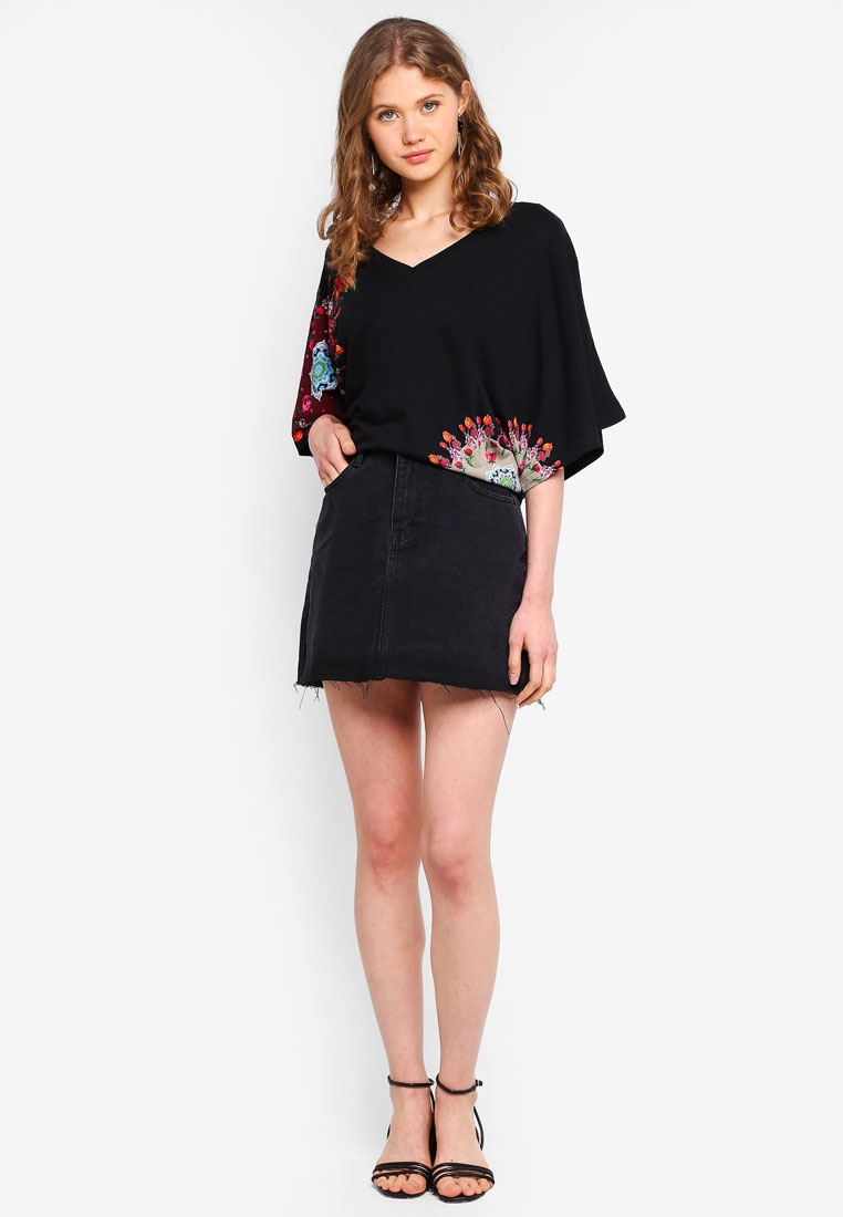 Negro Shirt T Corina Corina Desigual Desigual T Negro Shirt qd65w5t