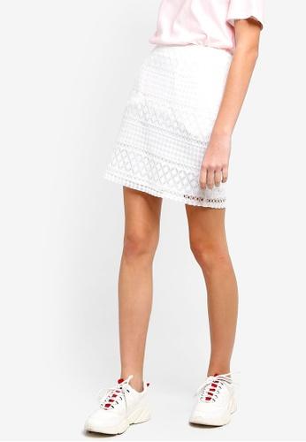Something Borrowed white High Waist Lace Skirt 85323AA72E6664GS_1