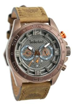 Timberland Timberland Jam Tangan Pria Coklat Rosegold Leather Strap TBL14814JSQBN-61
