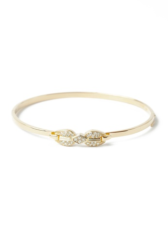CEBUANA LHUILLIER JEWELRY gold 14 Karat Yellow Gold Bangle With Diamonds 9C26EACC8A23D9GS_1