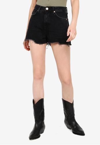3f3fd5d0b9a Buy River Island Annie Washed Denim Shorts | ZALORA HK
