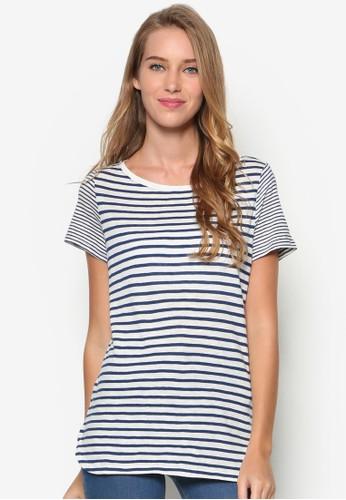 條紋棉質T 恤, 服飾, esprit 台灣官網上衣