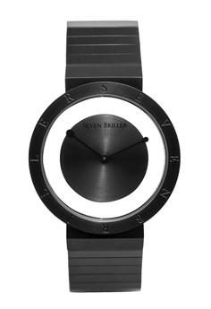Seven Briller Insight Series Floating Dial Quartz Black Stainless Steel Premium Men's Wrist Watch