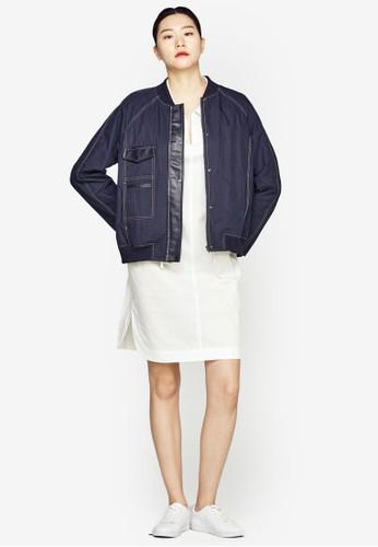 羅紋邊飾丹寧外套zalora 台灣, 服飾, 丹寧外套