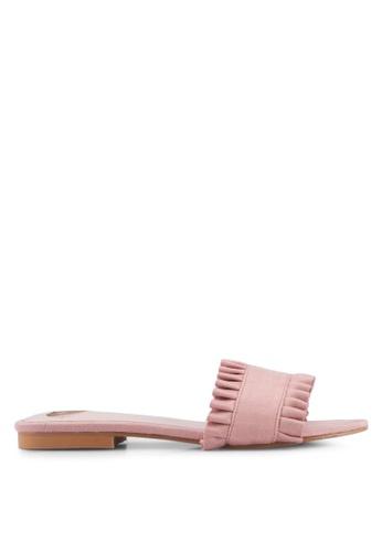 Velvet pink Printed Sandals 79485SH8AF7C7BGS_1