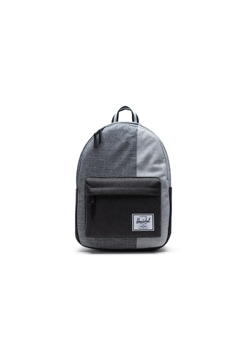 Herschel grey Herschel Classic X-Large - Raven Crosshatch/Black Crosshatch/Lt Grey Crosshatch Backpack BE4BEACEB1A3CEGS_1