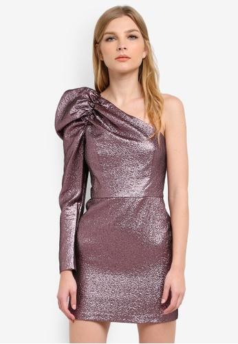 Miss Selfridge pink Pink One Shoulder Dress MI665AA0S6FIMY_1