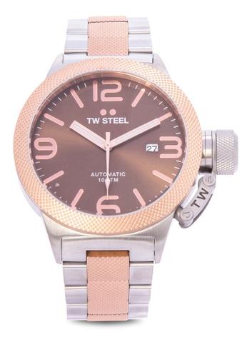 TW Steel silver CB155 Canteen Bracelet Analog Watch TW310AC0KMAAPH_1