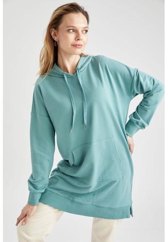 DeFacto green Long Sleeve Sweatshirt Tunic 8146BAA1509CCEGS_1