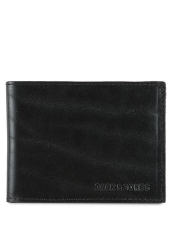 Jack & Jones black Jac Leather Wallet JA987AC0RGKBMY_1