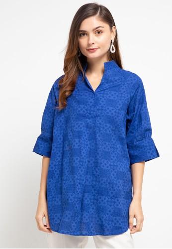 Batik First blue Blouse Charming+1 Masker C0203AAE9F9729GS_1