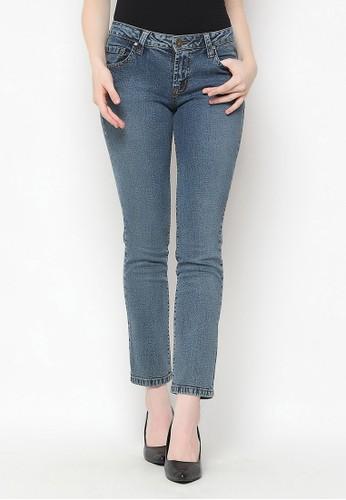 Mobile Power blue Straight Cut Long Pants Jeans Denim Mobile Power Ladies - H1225S 3E406AAD07234CGS_1