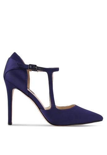 ZALORA 海軍藍色 繞踝繫帶高跟鞋 2440FSH4180047GS_1