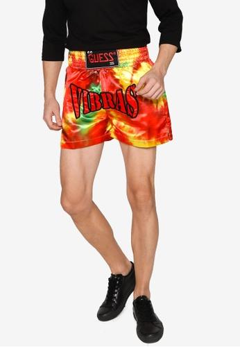 81c40e30e50c4 GUESS x J Balvin Vibras Logo Muay Thai Shorts