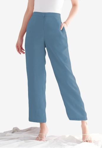Benangsari blue Culotte Pants Cobalt Blue 0B6FDAAA1CCF5DGS_1