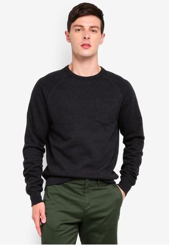 J.Crew black Lightweight Crew Neck Sweatshirt 70D09AA95023FFGS_1