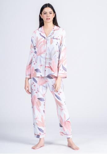 FEMINISM blue Cotton Longsleeve Pajama 38EDCAABD6E221GS_1