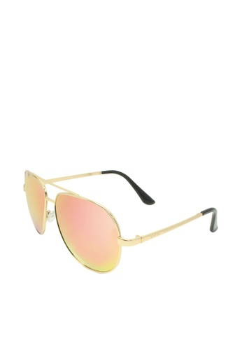 ASLLY pink and multi Rose│Pink Color mirror coating Pilot Sunglasses 304FAGL4C42883GS_1