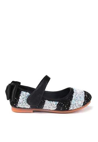 Twenty Eight Shoes 黑色 VANSA  閃片平底鞋  VSK-F83 31325KS9BC63C8GS_1
