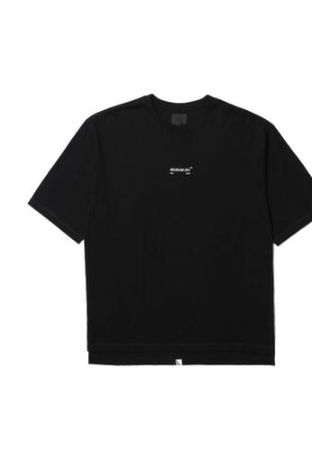MUSIUM DIV black Logo stripe tee 71327AA258C78DGS_1