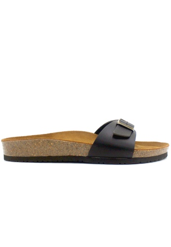 SoleSimple 黑色 Lyon - 黑色 百搭/搭帶 軟木涼鞋 59FC4SHC885117GS_1