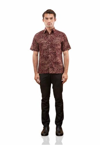 TUSCA purple Eusoff Premium Batik Shirt 3CF9DAA6F6A07BGS_1