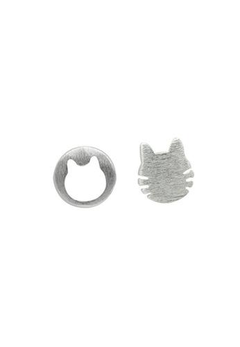 LYCKA 銀色 LDR9113 S925純銀 可愛貓咪耳釘 F82FBACAC49EFDGS_1