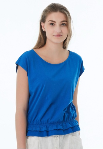 United Colors of Benetton blue Round Neck T-shirt 419DCAA684FDDDGS_1