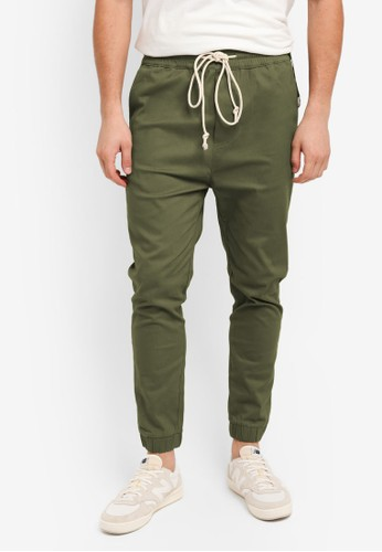 Flesh IMP green Bouseman Loop Jogger Pants D251DAA28E333DGS_1