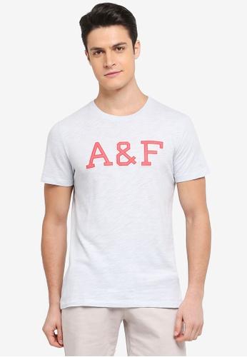 Abercrombie & Fitch blue Brand Logo T-Shirt 0E8E6AAF043315GS_1