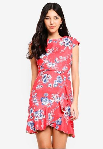Angeleye pink Coral Suede Dress 13CC3AAE799380GS_1