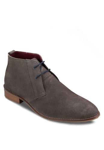 三esprit門市眼繫帶麂皮短靴, 鞋, 鞋