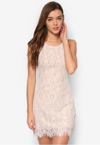 Clementine 蕾絲挖背修身洋裝, 服飾esprit 兼職, 洋裝